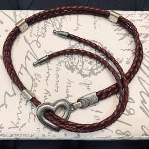 Vintage Braided Bolo Style Belt with Heart GUC